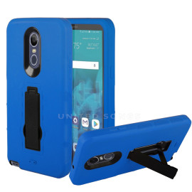 Lg Stylo 4 / Stylo 4 Plus / Stylus 4 Dual Layer Hybrid Silicone Shockproof Kickstand Case Cover Blue/Black