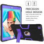 Apple Ipad 7Th Generation 10.2 Inch Dual Layer Shockproof Heavy Duty Kickstand Tablet Case Cover Black/Purple