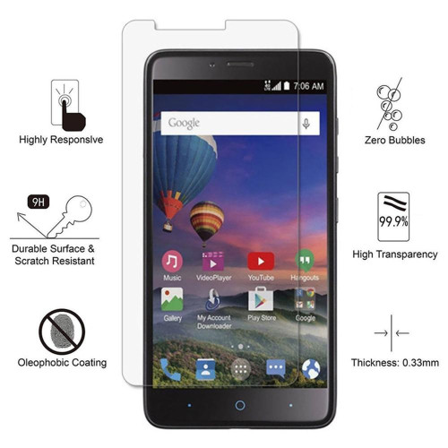 Zte Max Xl / N9560 Tempered Glass Screen Protector