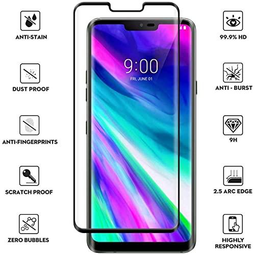 Lg G8 Thinq 5D Curved Tempered Glass Screen Protector Black