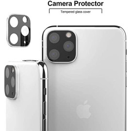 Apple Iphone 11 Pro Max / Iphone 11 Pro Full Camera Screen Area Lens Protector Silver