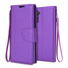Samsung Galaxy Note 10 Plus / Note 10 Pro Shockproof Folio Wallet Card Holder Case Cover Purple