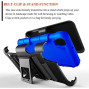 Lg Tribute Hd / X Style / Ls676 protect Belt Clip Holster Case Blue