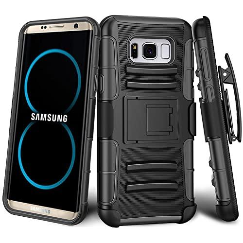 Samsung Galaxy S8 Plus protect Belt Clip Holster Case Cover Black