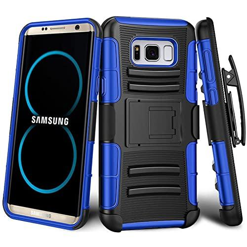 Samsung Galaxy S8 Plus protect Belt Clip Holster Case Cover Blue