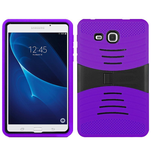 Samsung Galaxy Tab A 7.0 / T280 Hybrid Silicone Case Cover Stand Purple