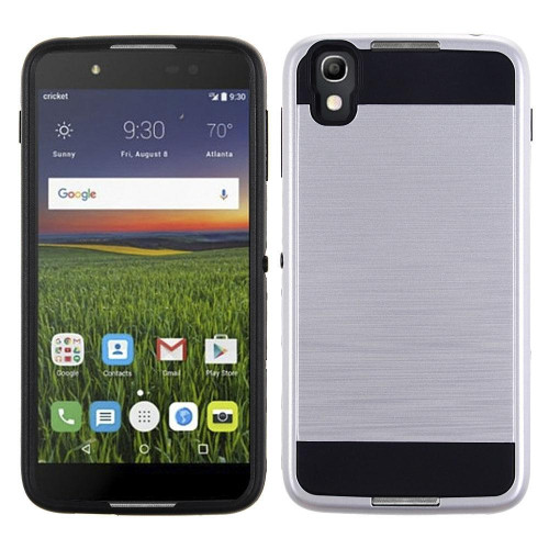 Alcatel Onetouch Idol 4 Hybrid Metal Brushed Shockproof Tough Case Cover Silver