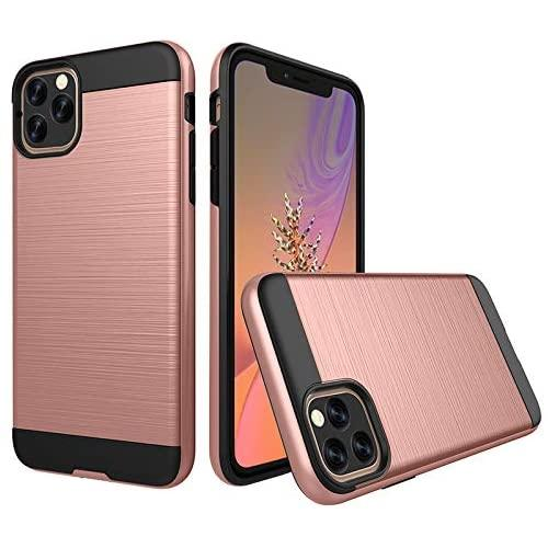 Apple Iphone 11 Pro Max 6.5 Inch Hybrid Metal Brushed Shockproof Tough Case Cover