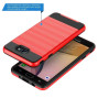 Samsung Galaxy On 7 2016 Hybrid Metal Brushed Shockproof Tough Case Cover Red