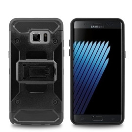 Samsung Galaxy Note 7 / N930 protect Hybrid Dual Layer Shockproof Touch Kickstand Case Cover Black