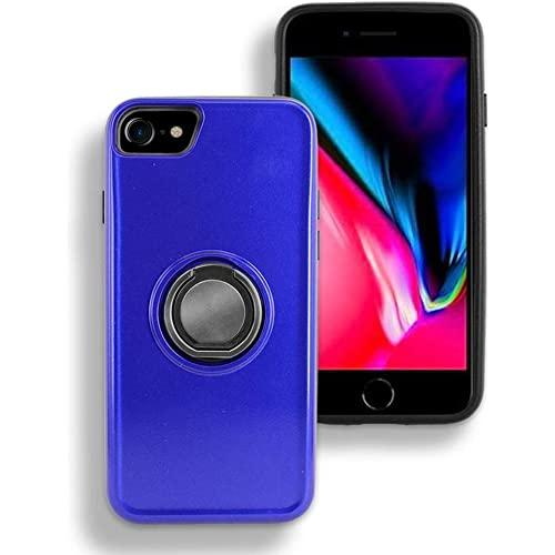 Apple Iphone 7 / Iphone 8 Shockproof Hybrid Magnetic Holder Ring Stand With Mirror Card Slot Case Cover