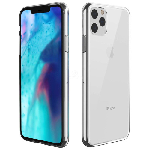 For Apple Iphone 11 Pro Transparent Bumper Silicone Gel Case Cover