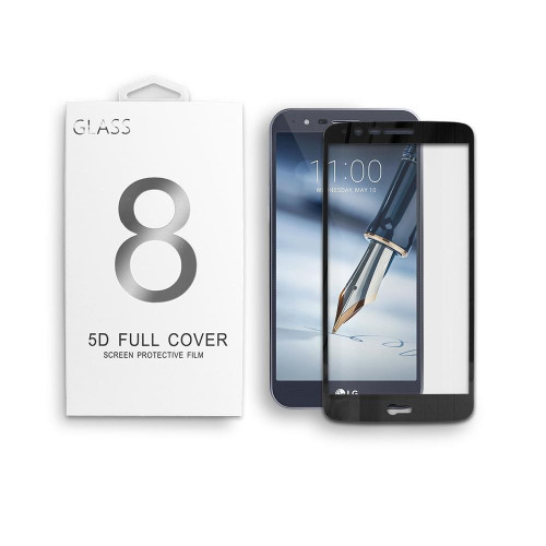 Lg Stylo 3 / Stylus 3 / Ls777 / Stylo 3 Plus / Tp450 5D Curved Tempered Glass Screen Protector Black