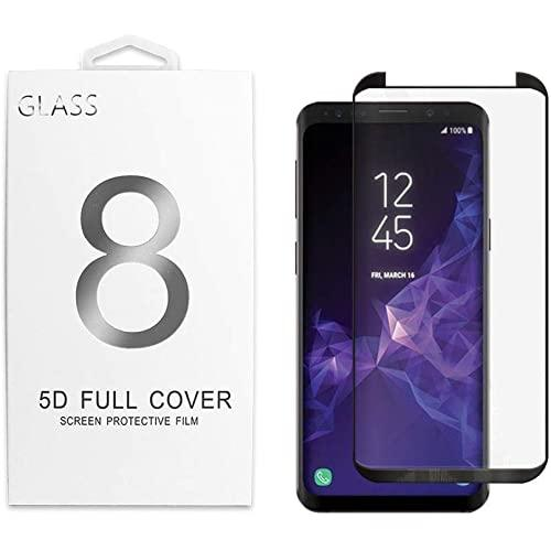 Samsung Galaxy S9 5D Curved Full Cover Tempered Glass Screen Protector Black
