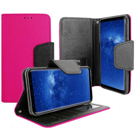 Samsung Galaxy Note 8 Magnetic Flap Streak Leather Wallet Pouch Case Cover Pink