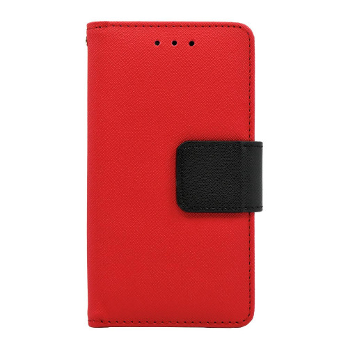 Alcatel One Touch Elevate / 5017E Leather Wallet Pouch Case Cover Red
