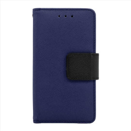 Lg G5 Leather Wallet Pouch Case Cover Blue