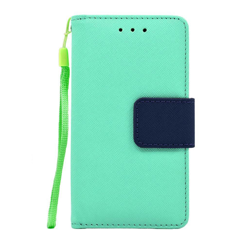 Samsung Galaxy Note 7 / N930 Leather Wallet Pouch Case Cover Light Green