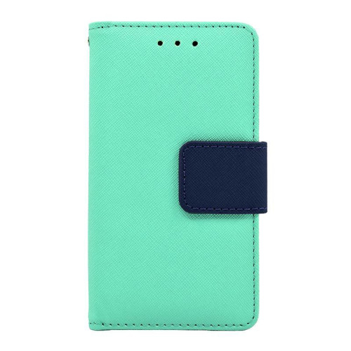 Samsung Galaxy S7 Edge Leather Wallet Pouch Case Cover Light Green