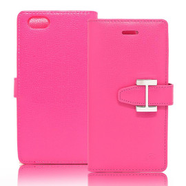 Iphone 8 Plus / 7 Plus Luxury Leather Wallet Pouch Case Cover Pink