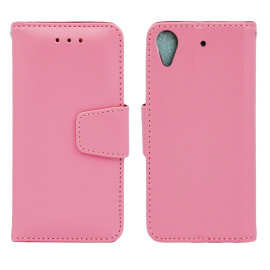 Htc Desire 626 / 626S Folio Leather Wallet Pouch Case Cover Pink