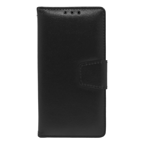 Kyocera Hydro View / 6742 Folio Leather Wallet Pouch Case Cover Black