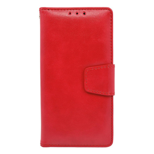 Samsung Galaxy S8 Folio Leather Wallet Pouch Case Cover Red