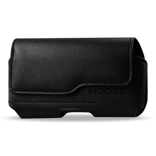 For Alcatel One Touch Conquest / 7046T Horizontal Z Lid Leather Pouch Plus Cell Phone With Cover Size Black
