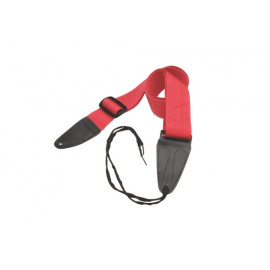 Guitar Strap With Leather Ends (Red)