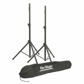 All-Aluminum Speaker Stand Pak With Draw String Bag