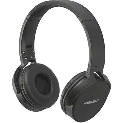 Magnavox Black Foldable Headphones With Bluetooth Wireless Technology