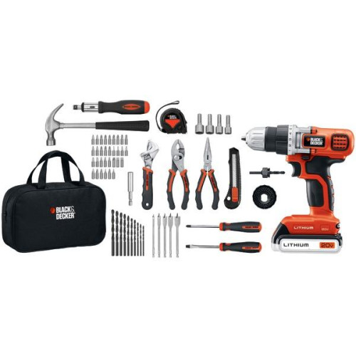 20-Volt Max* Lithium Drill/Driver & 68-Piece Project Kit
