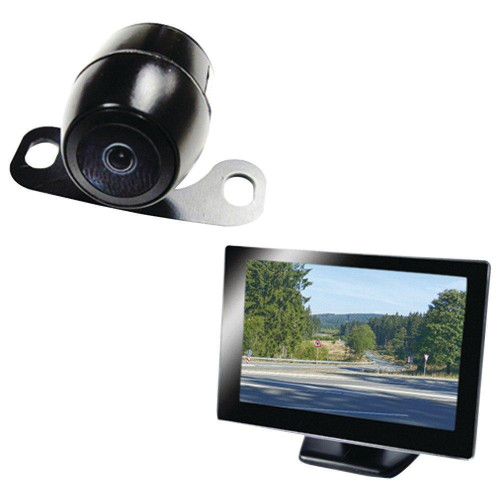 """5"""" Rearview Monitor With License-Plate Camera"""
