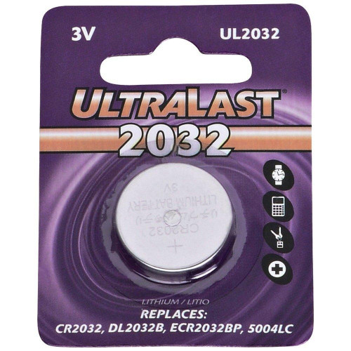 Ul2032 Cr2032 Lithium Coin Cell Battery