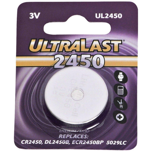 Ul2450 Cr2450 Lithium Coin Cell Battery