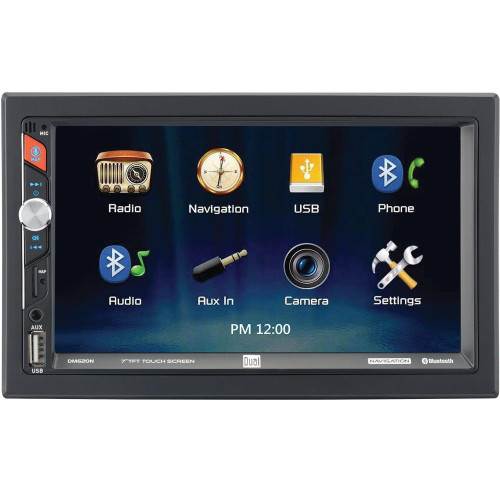 7-Inch Double-Din In-Dash Mechless Receiver With Built-In Navigation And Bluetooth(R)