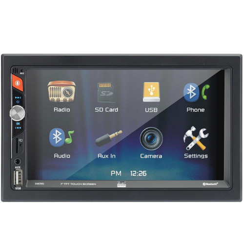 7-Inch Double-Din In-Dash Mechless Receiver With Bluetooth(R)