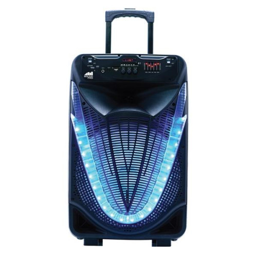 Portable 15-Inch Bluetooth(R) Party Speaker With Disco Light