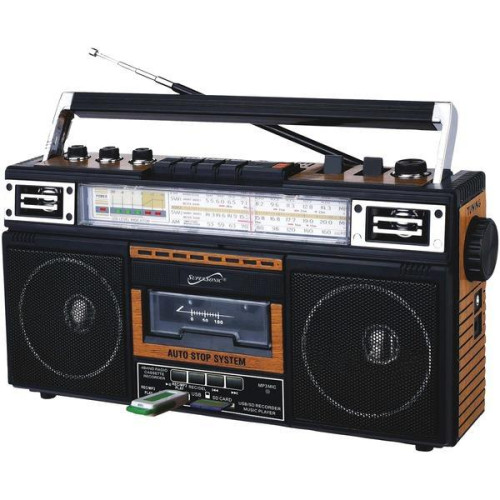 Retro 4-Band Radio And Cassette Player With Bluetooth(R) (Wood)