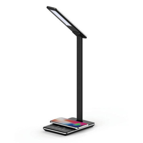 Led Desk Lamp With Qi(R) Charger (Black)
