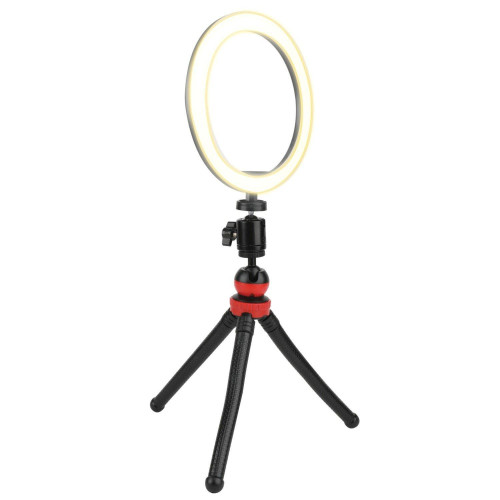 10-Inch Streaming Essentials Led Ring Light With Spider Tripod And Phone Mount