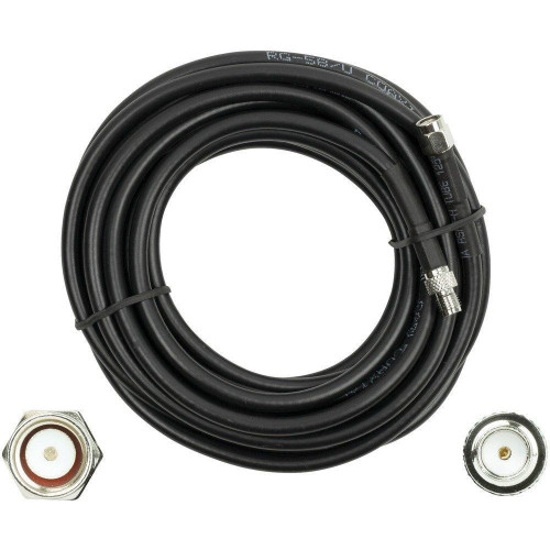 Rg58U Sma-Male To Sma-Female Low-Loss Foam Coaxial Extension Cable (15Ft)