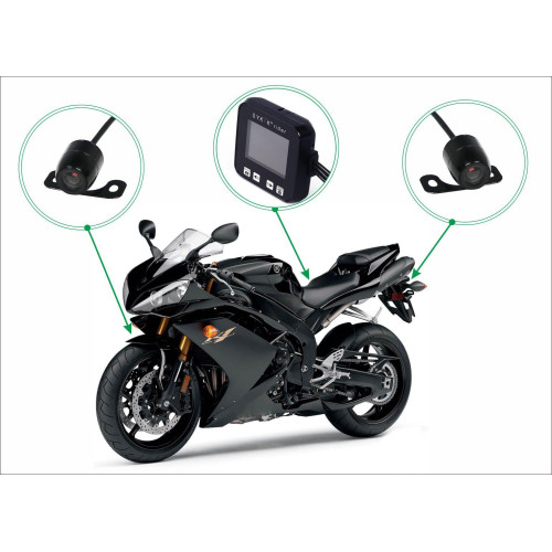 Sykik Rider Cr1 Motorcycle Camera With Smart Park