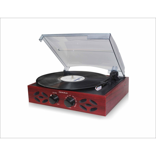 Techplay Odc15 Retro Classic 3 Speed Woodenturntable With Fm Rad