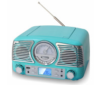 Techplay Qt62Bt Tr, Retro Design Compact Stereo Cd, With Am/Fm