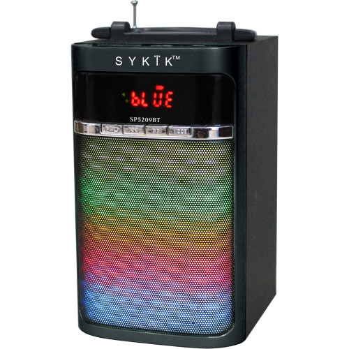 Sykik Sp5209Bt Bluetooth Portable Speaker With Light Show, Power