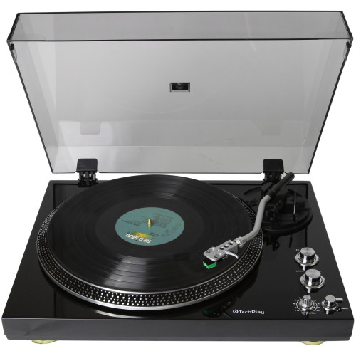 Techplay Tcp4530 Blk, Analog Turntable With Built-In Phono Pre-A