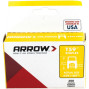 "Arrow 591189 Clear T59 Insulated Staples for RG59 quad & RG6, 5/16"" x 5/16"", 300 pk"