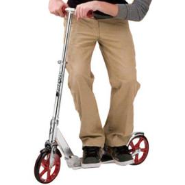 A5 Lux Scooter - Silver/Red