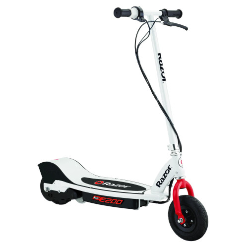 E200 Electric Scooter - White/Red